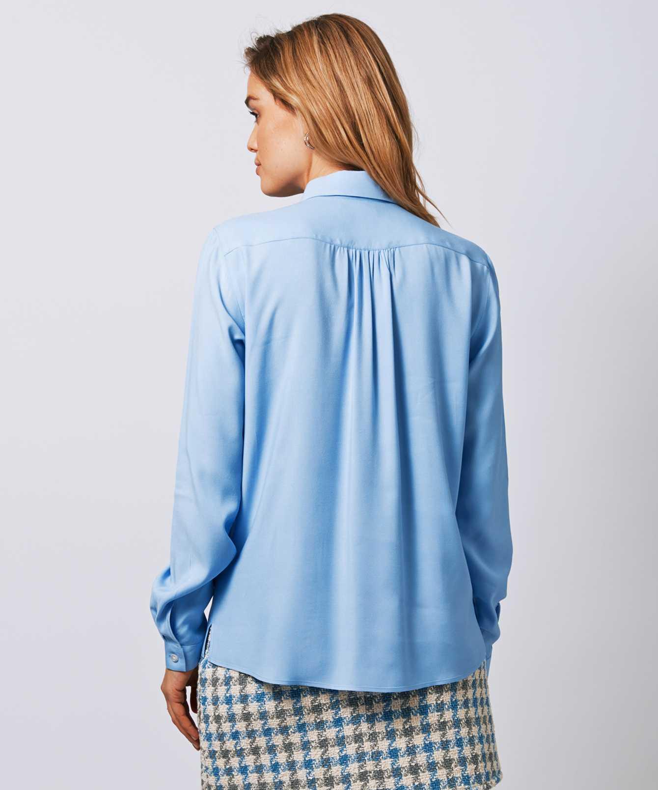 Skjorta Gina Verona Ljusblå The Shirt Factory