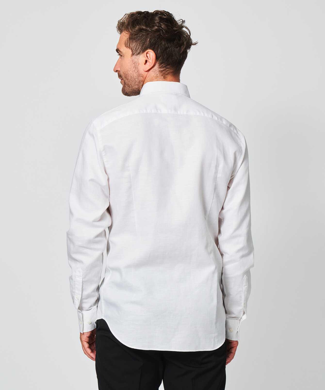 Skjorta Portofino Linne Vit  The Shirt Factory