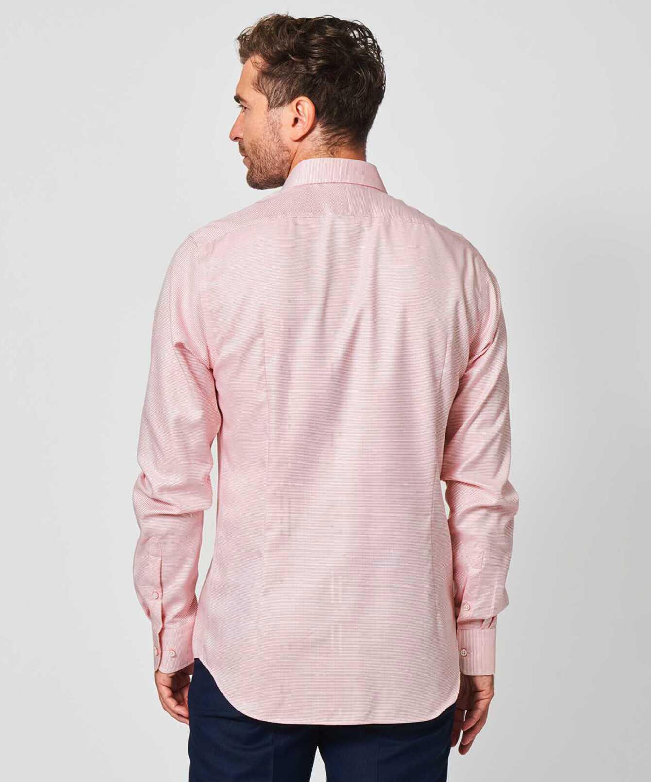 Skjorta Belmont Strykfri Röd Extra Lång Ärm The Shirt Factory
