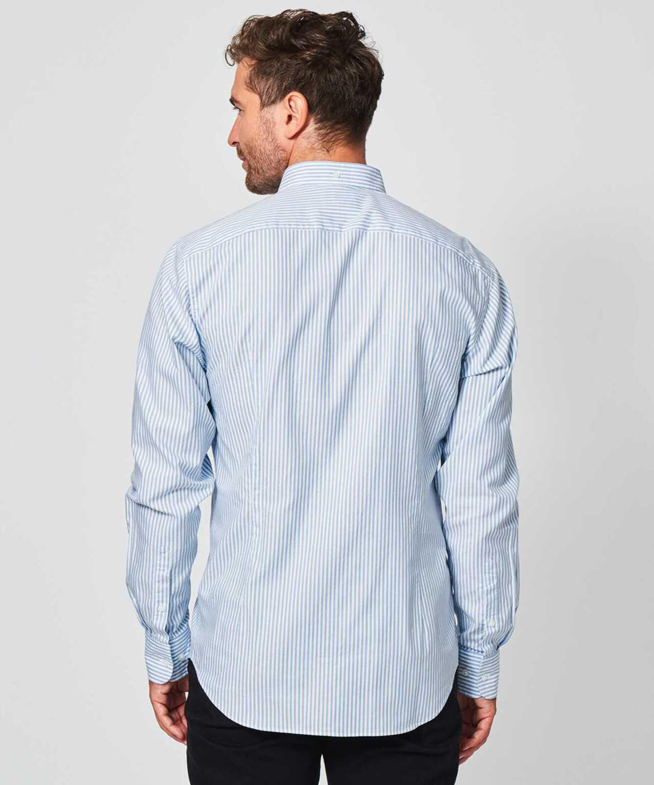 Skjorta Oxford Stripe Blå The Shirt Factory