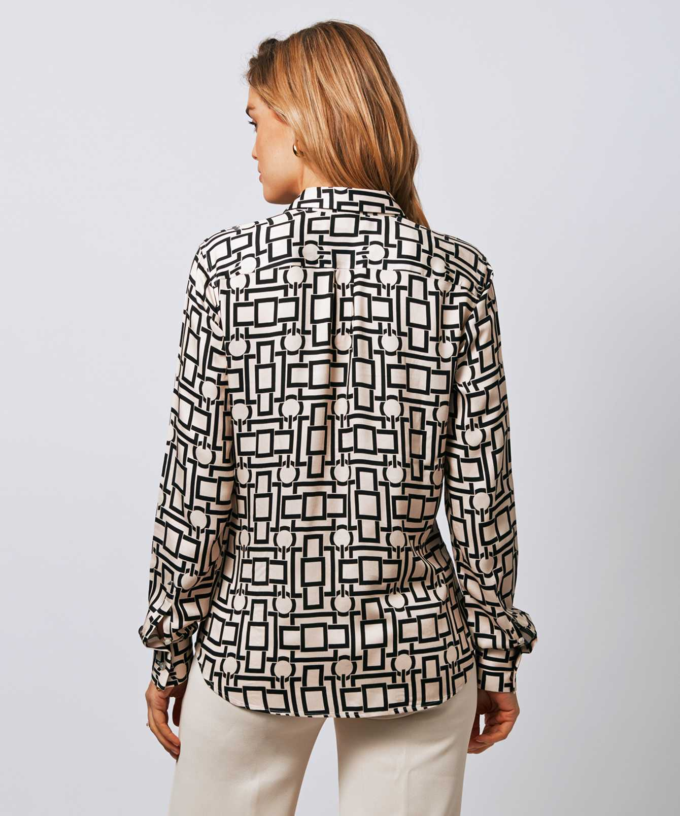 Skjorta Tilde Graphic Beige The Shirt Factory