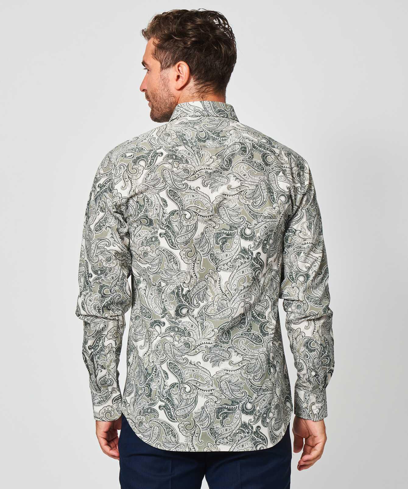 Skjorta Paisley Grön  The Shirt Factory