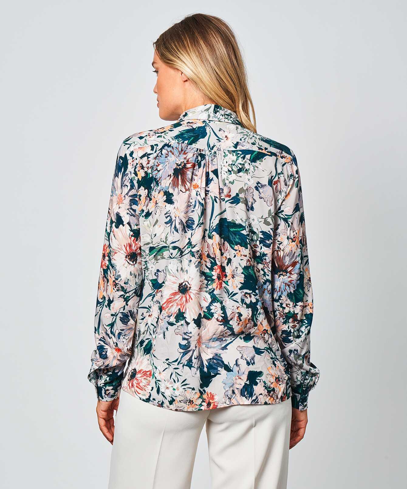 Skjorta Gina Flower  The Shirt Factory