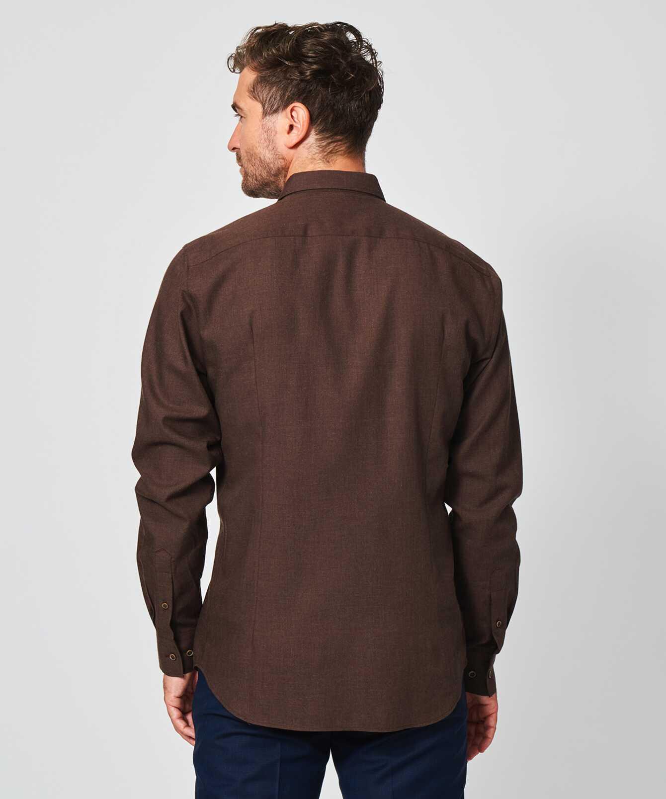 Skjorta Costello Mörkbrun The Shirt Factory