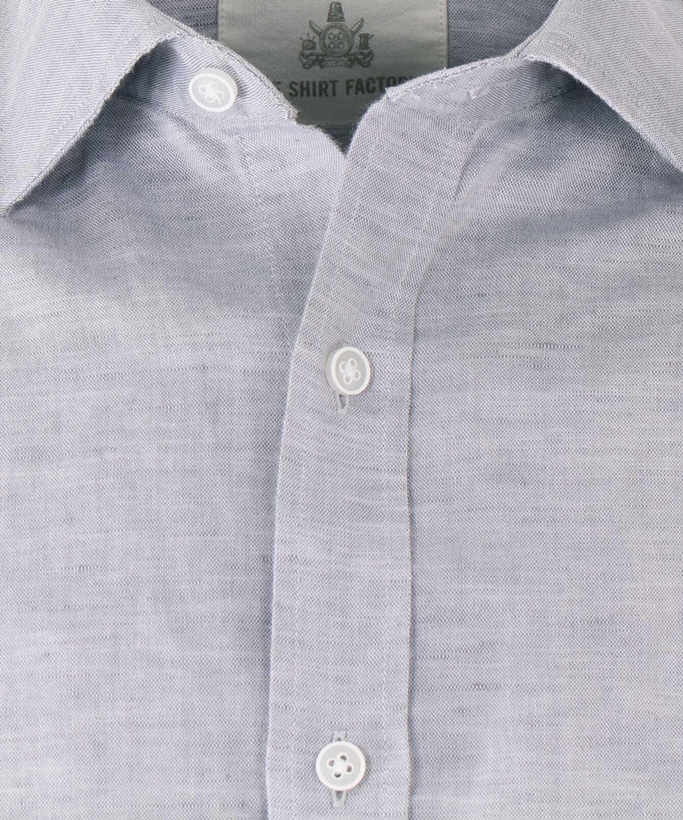 Skjorta Portofino Linne Grå  The Shirt Factory