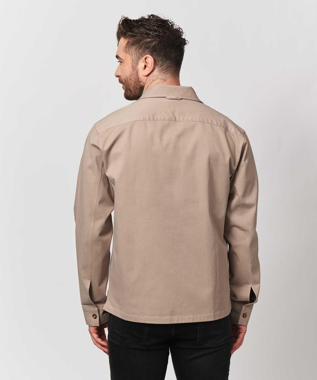 Skjorta Twill Overshirt Beige  The Shirt Factory