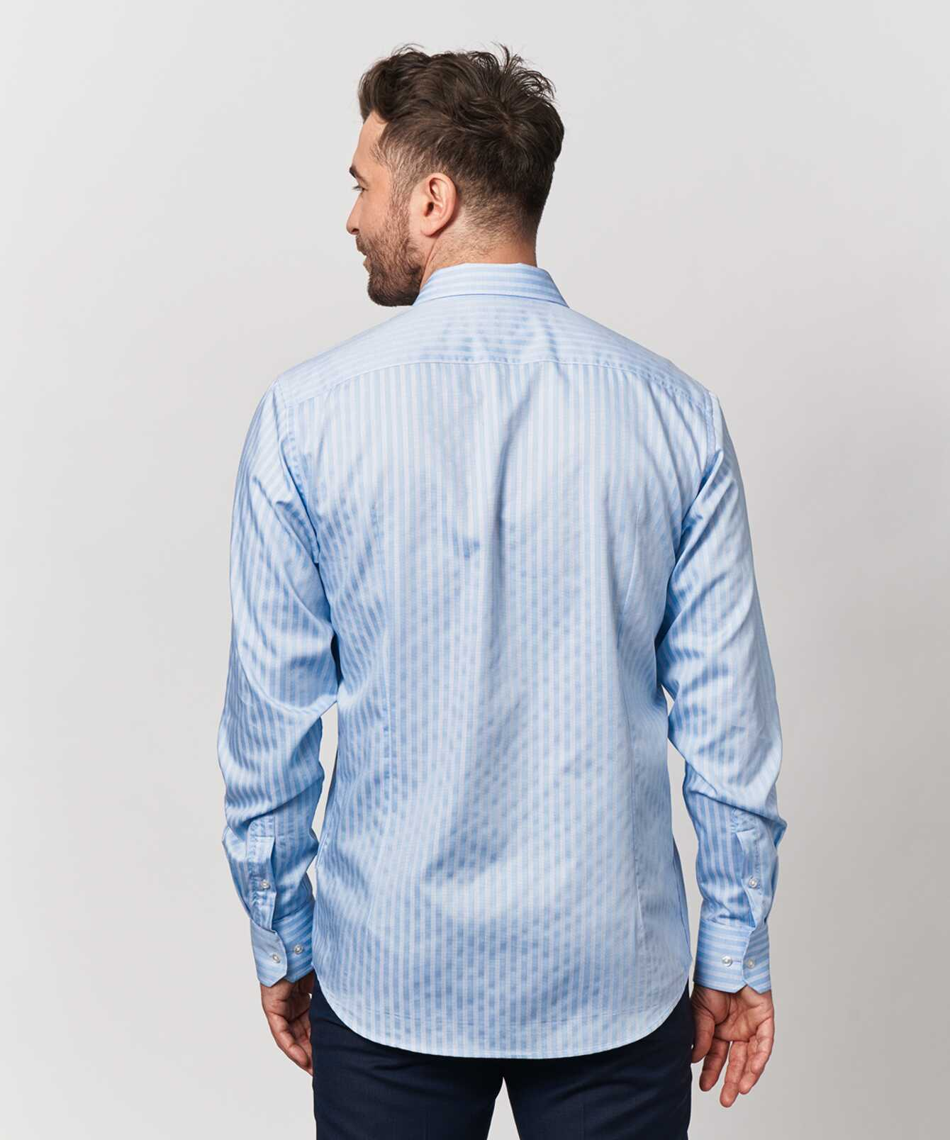 Shirt Bandon Stripe Blå The Shirt Factory