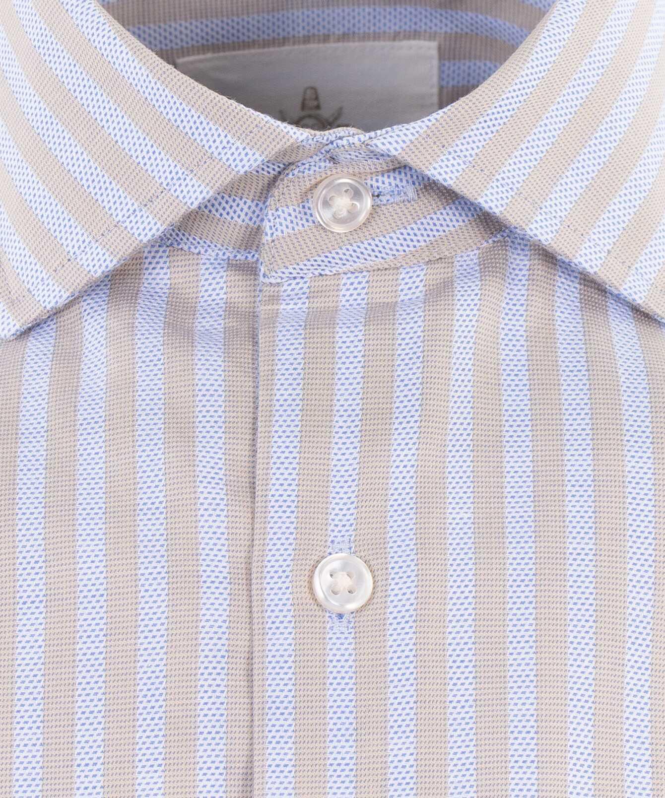 Skjorta Bandon Stripe Beige The Shirt Factory