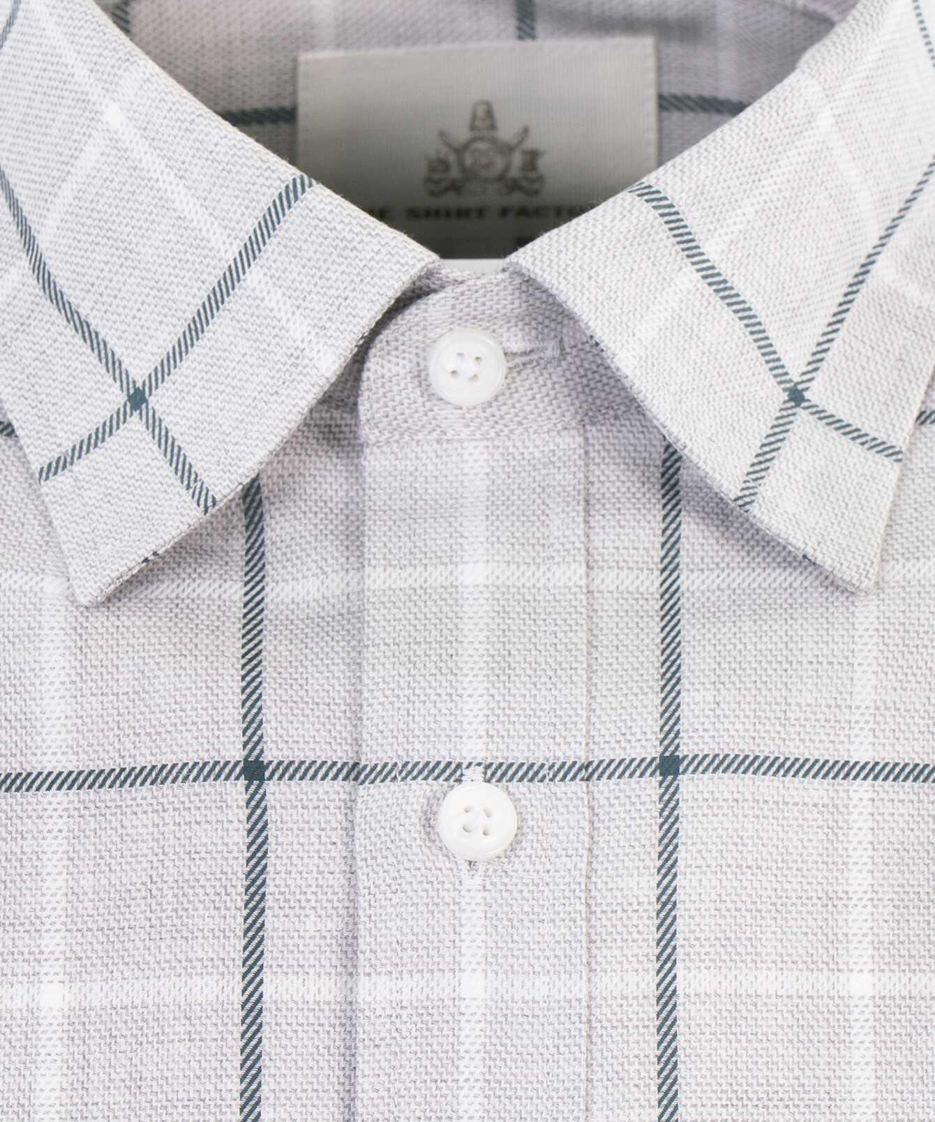 Skjorta Lincoln Blå Extra Lång Ärm The Shirt Factory