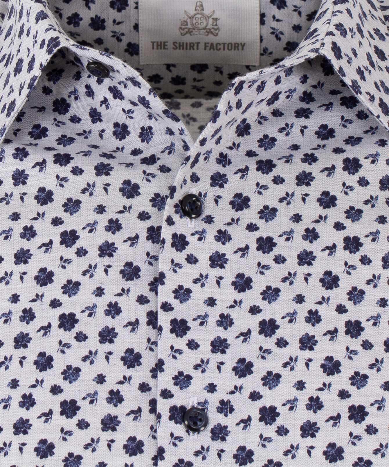 Shirt Merida Blue extra long sleeves The Shirt Factory