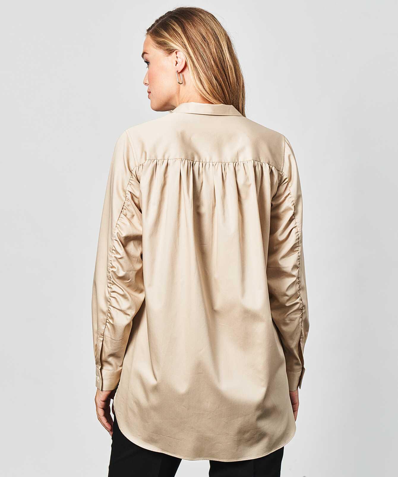 Skjorta Kayla Cotton Poplin Beige The Shirt Factory