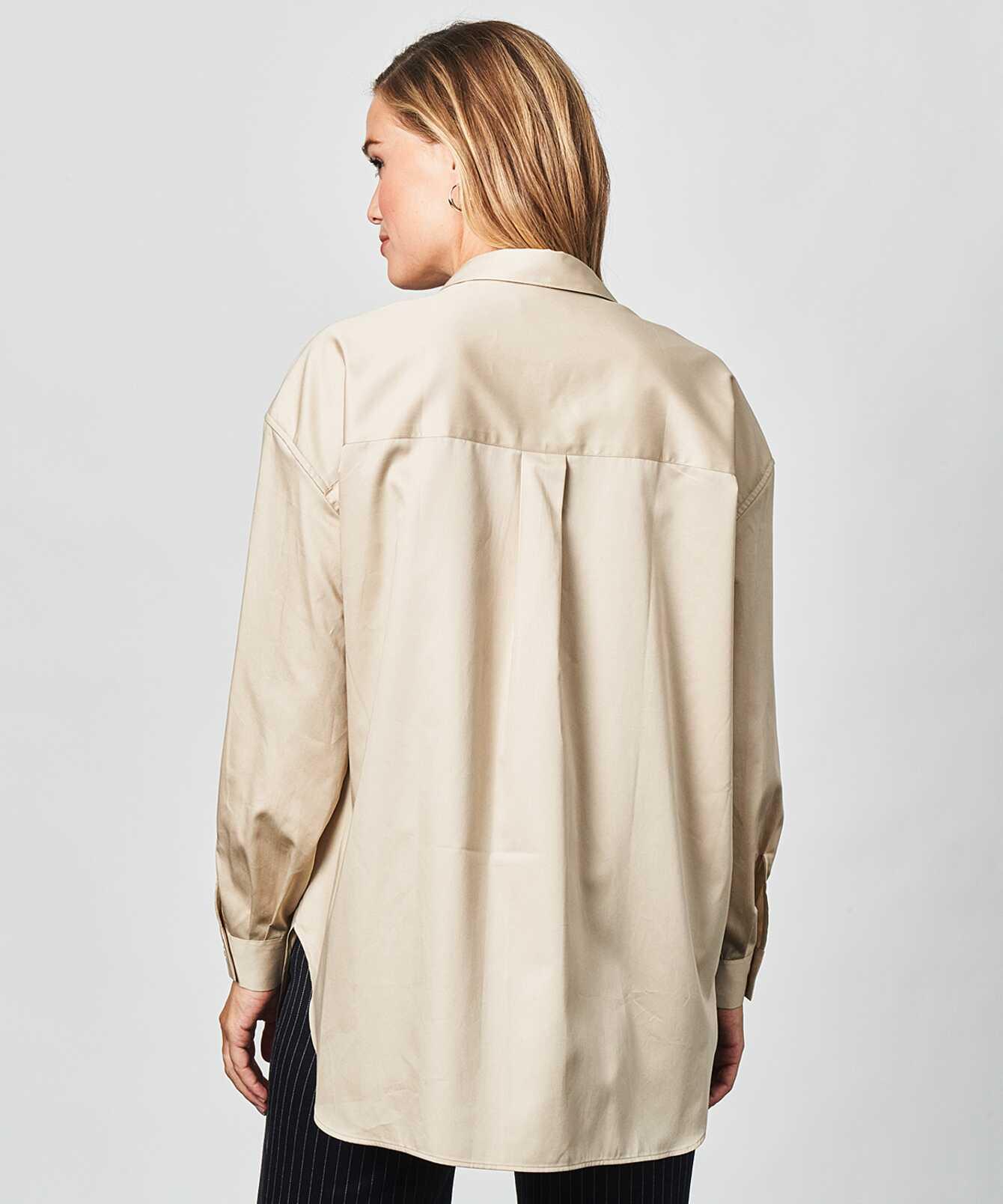 Skjorta Elsa Cotton Poplin Beige The Shirt Factory