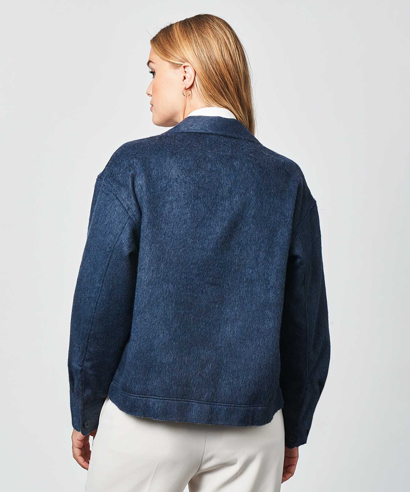Skjorta Ada Flanell Overshirt Blå The Shirt Factory