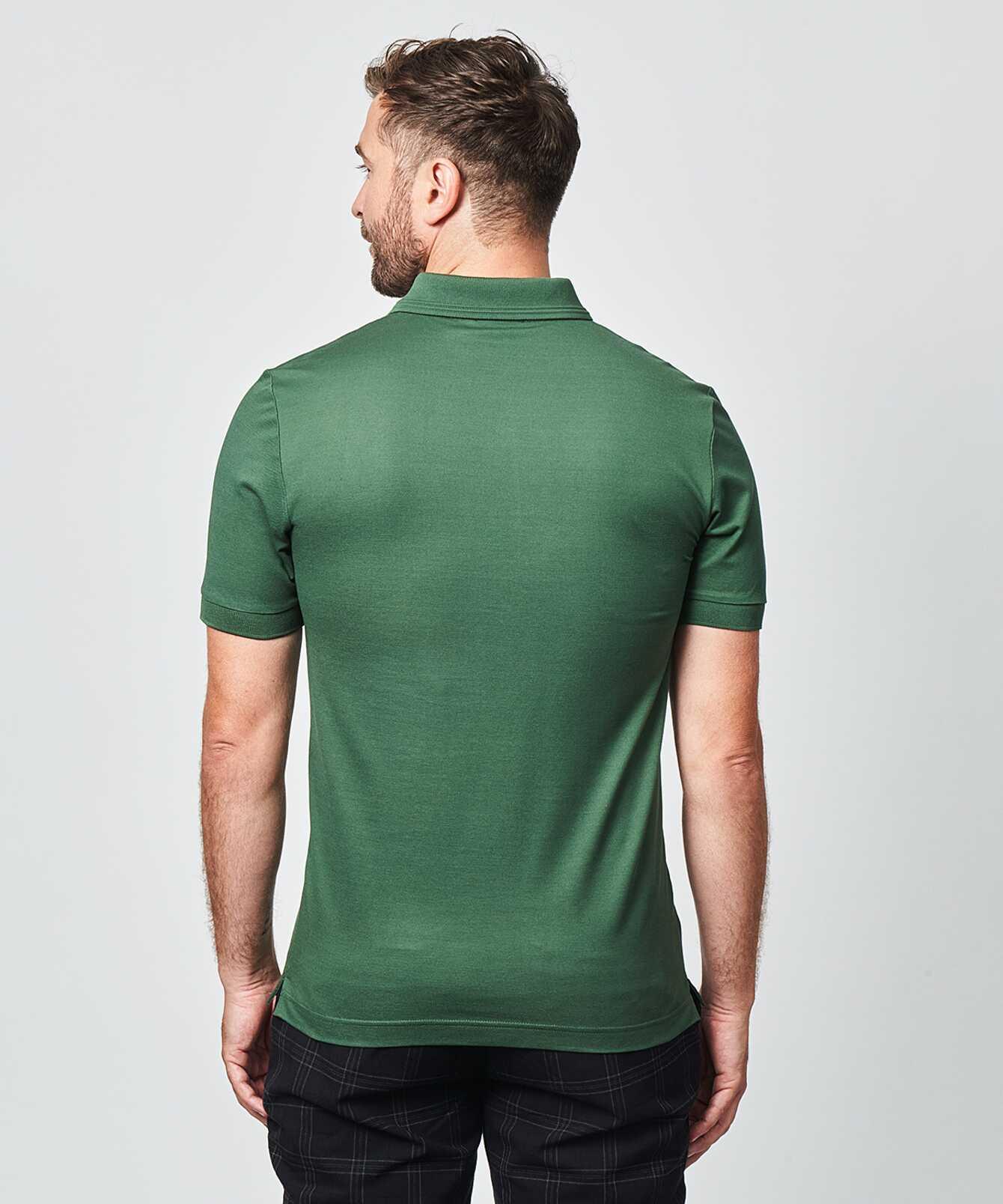 Shirt Mercerized polo shirt green The Shirt Factory