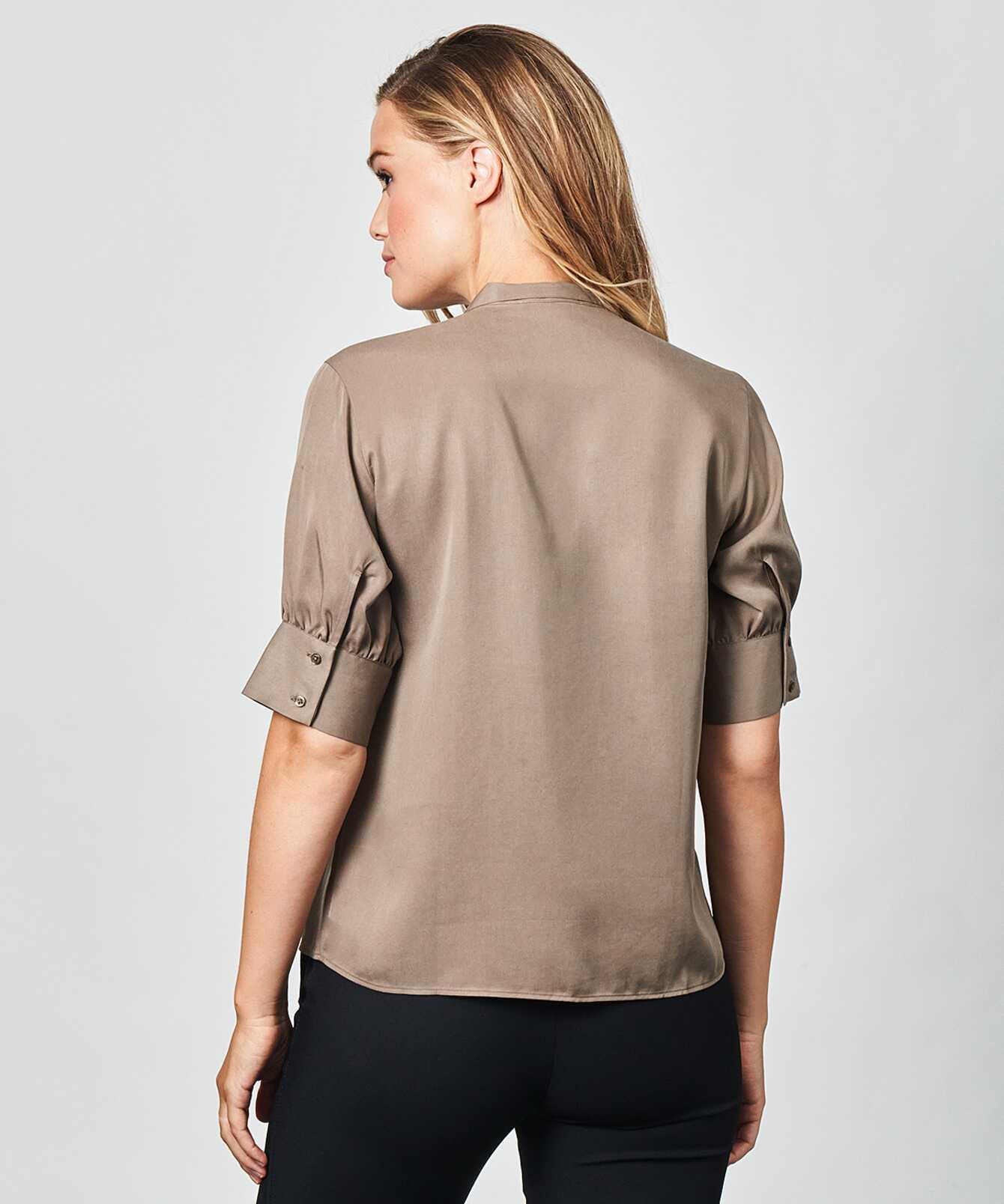 Skjorta Sanna Soft Taupe The Shirt Factory
