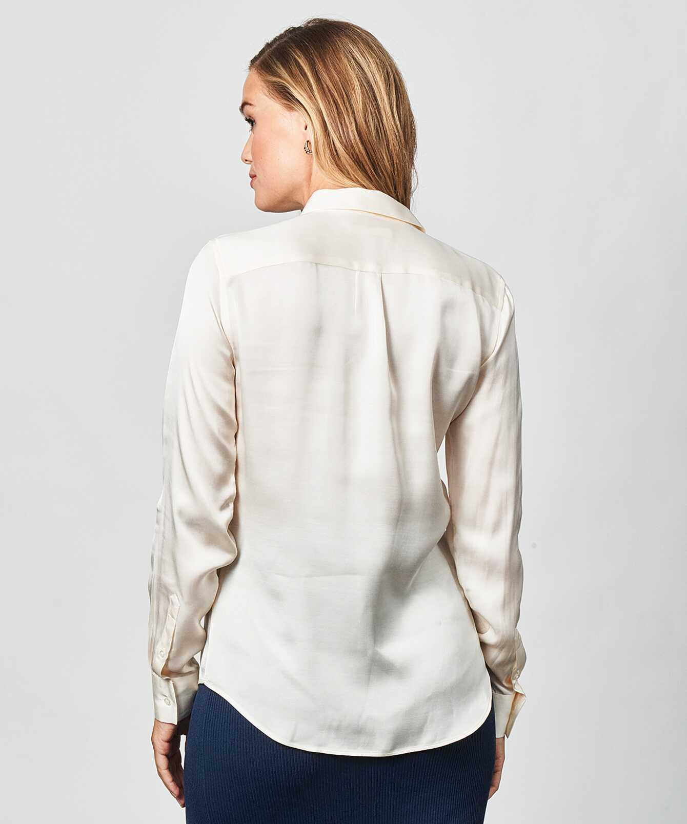 Shirt Tilde Glossy Cream The Shirt Factory