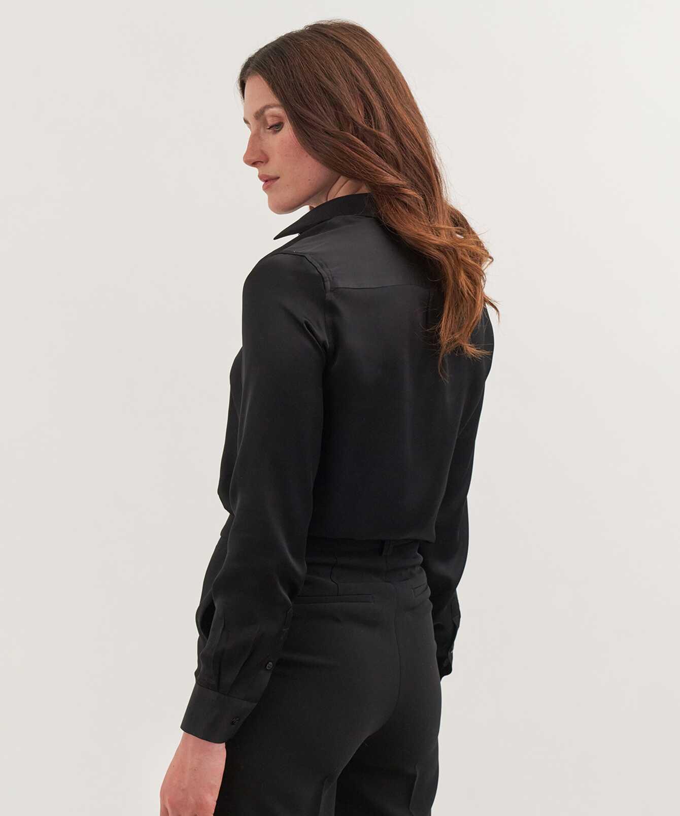 Shirt Tilde Glossy Black The Shirt Factory