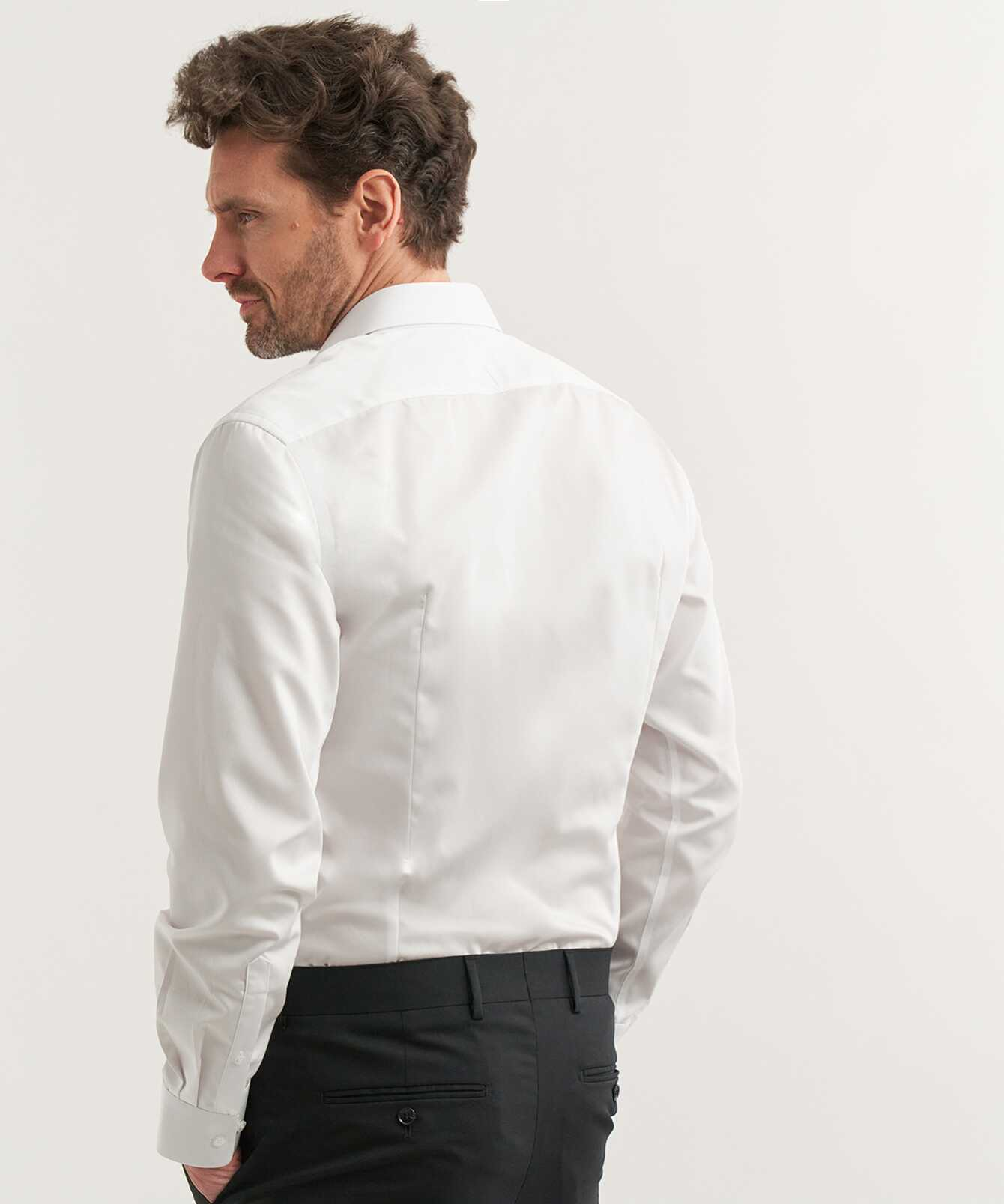 Skjorta Twill Strykfri Vit The Shirt Factory