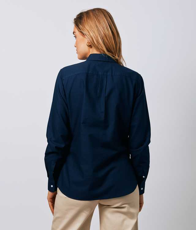 Tilde Hampton Oxford Navy The Shirt Factory