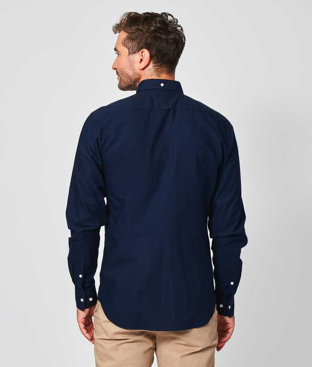 Hampton Oxford Navy The Shirt Factory