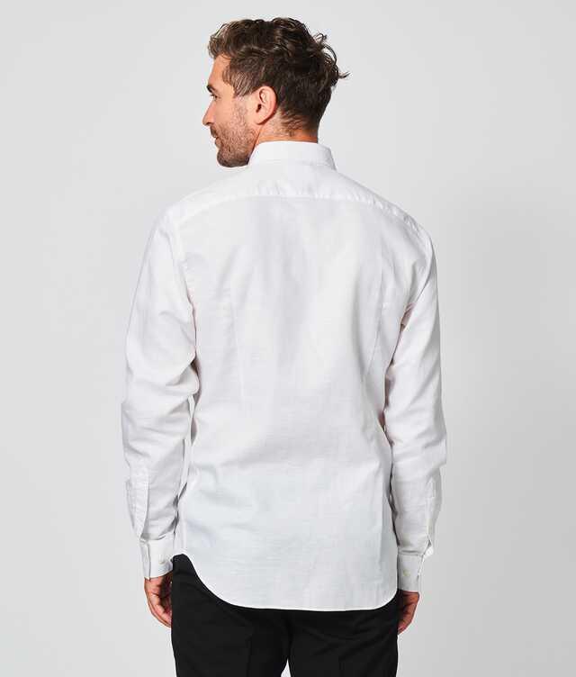 Portofino Linne Vit  The Shirt Factory