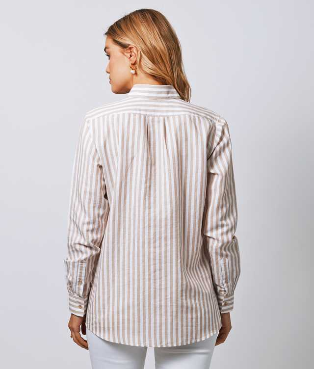 Mickan Linen Stripe The Shirt Factory