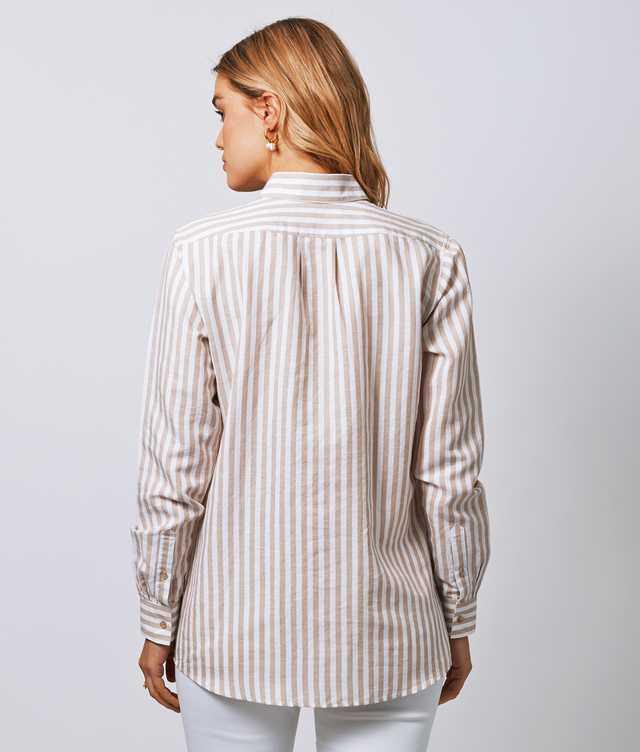 Mickan Linen Stripe The Shirt Factory