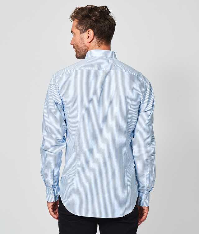 Oxford Stripe Blå The Shirt Factory