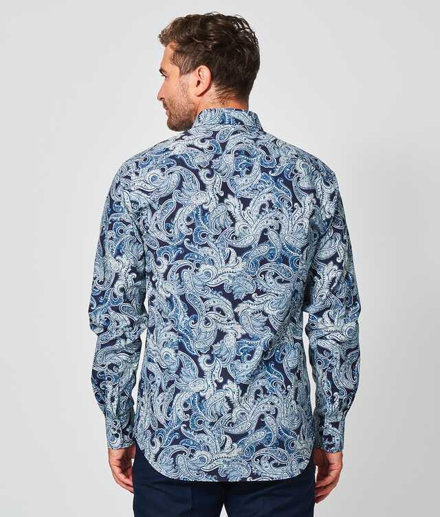 Paisley Blå The Shirt Factory