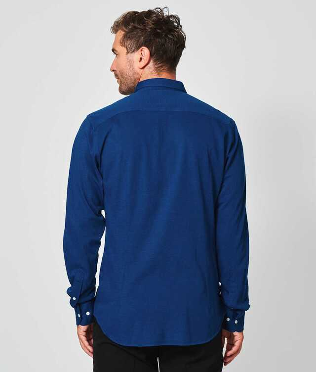 Royal Troon Pique Blue The Shirt Factory