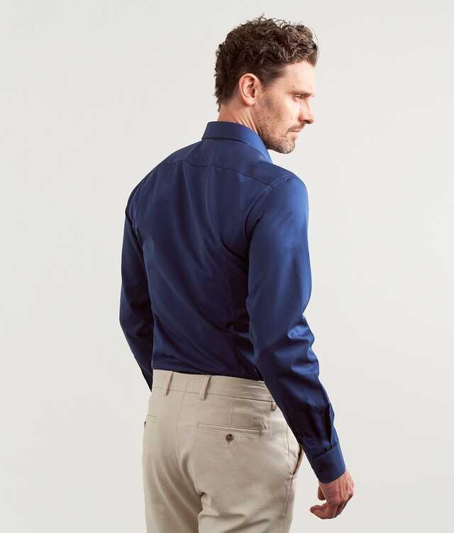 Grand Twill Strykfri Mörkblå Extra Lång Ärm The Shirt Factory