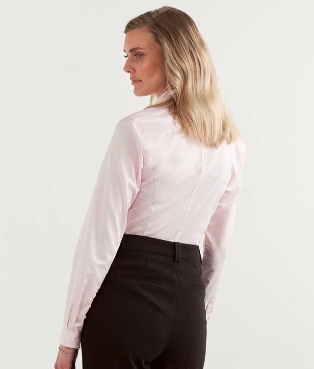 Moa Grand Twill Strykfri Rosa The Shirt Factory