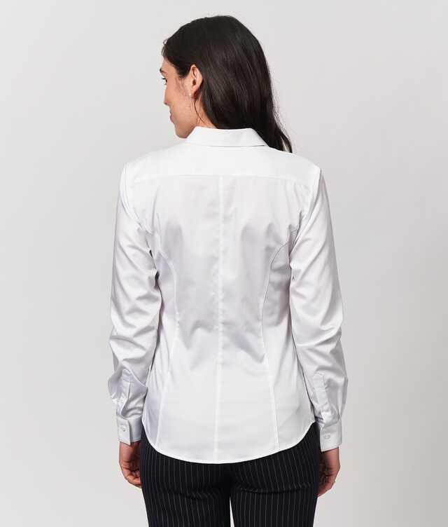 Emma Grand Twill Vit  The Shirt Factory