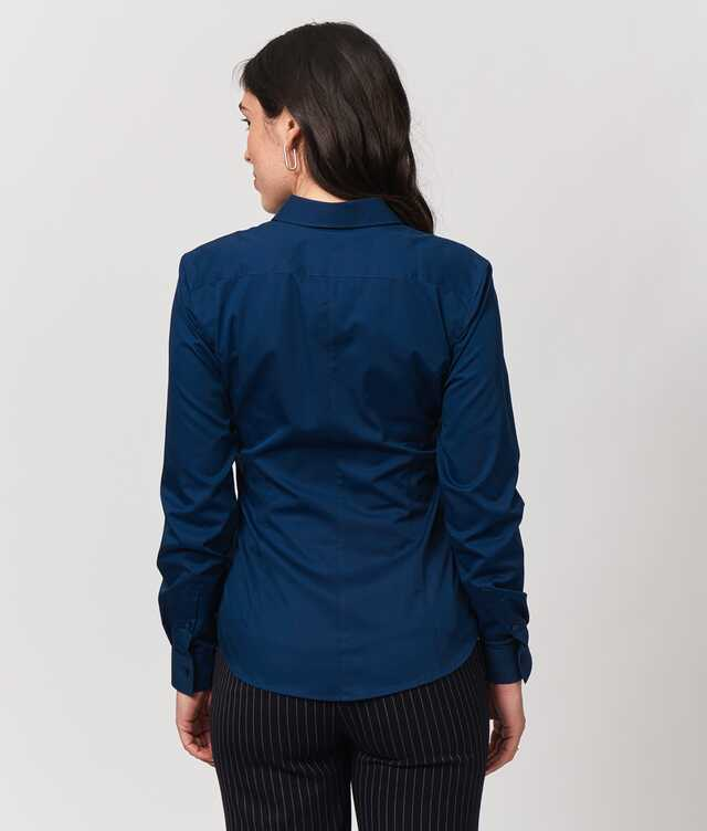 Emma Grand Twill Navy The Shirt Factory