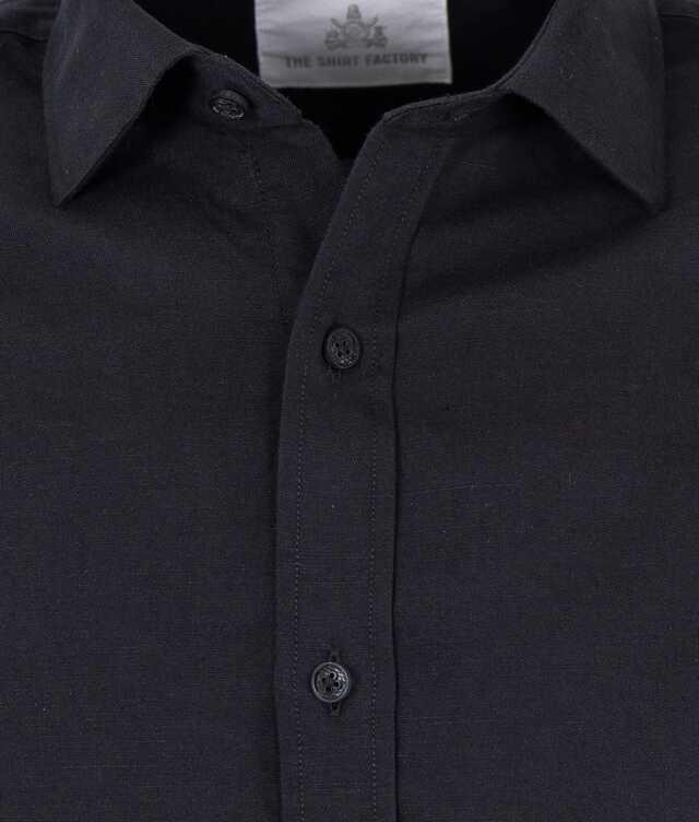 Portofino Linen Black  The Shirt Factory