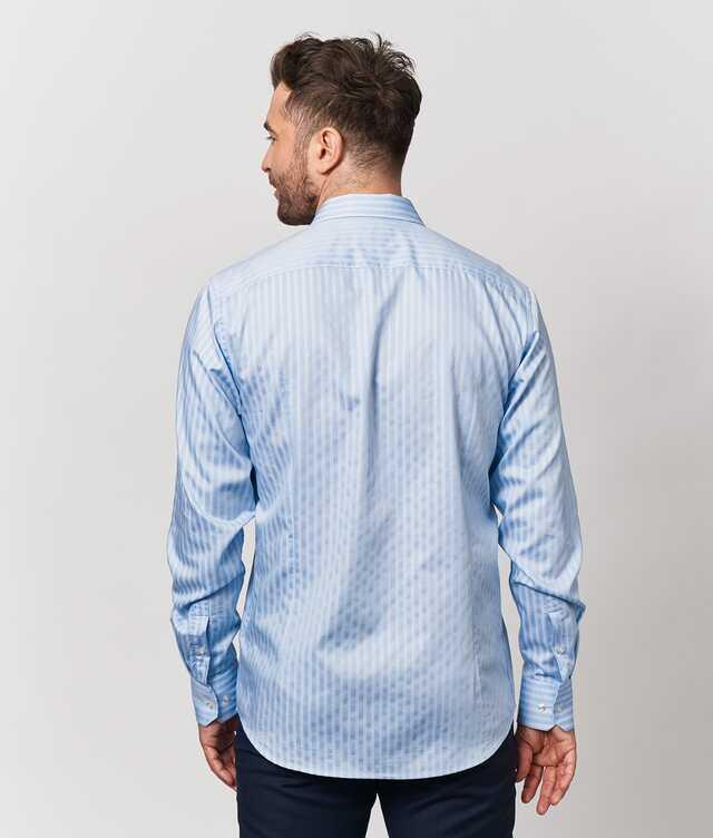 Bandon Stripe Blå The Shirt Factory