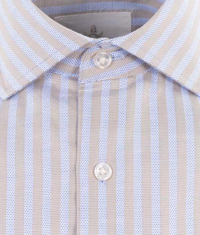 Bandon Stripe Beige The Shirt Factory