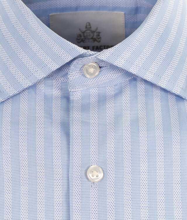 Bandon Stripe Blå Extra Lång Ärm The Shirt Factory