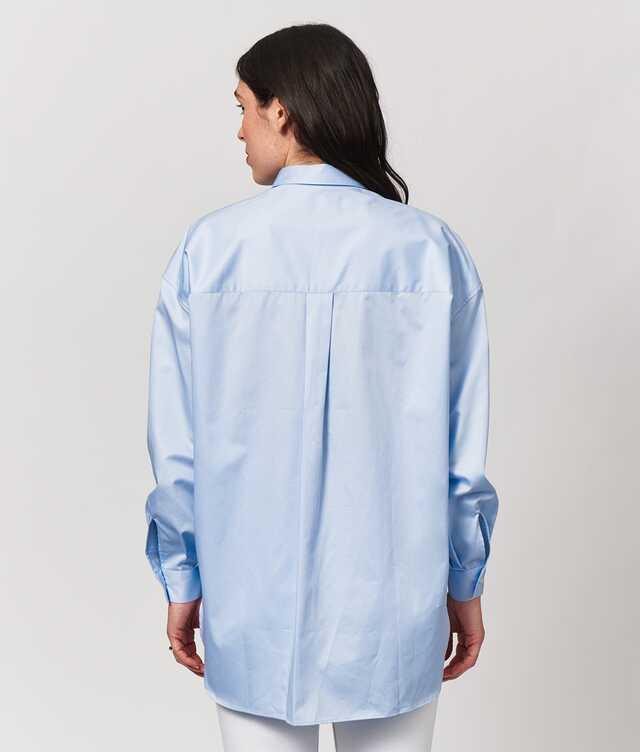 Elsa Cotton Poplin Ljusblå The Shirt Factory