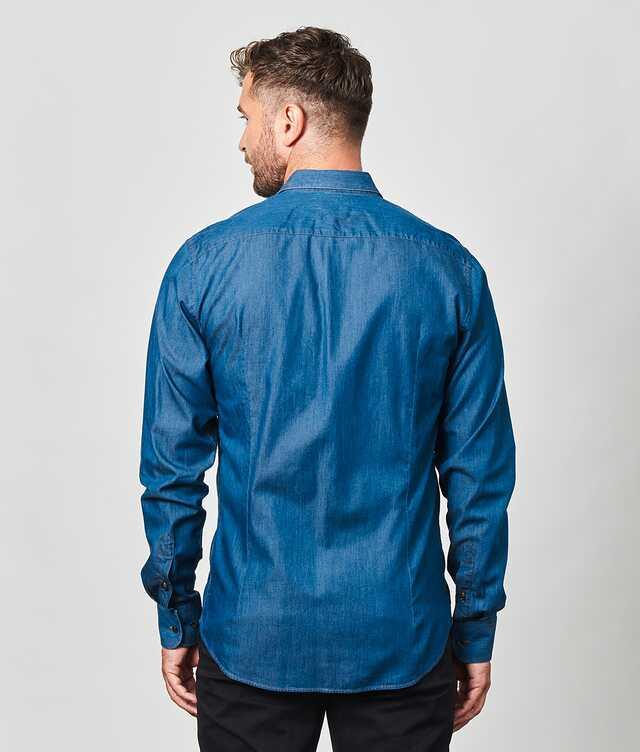 Brillo Jeans Shirt Dark Details Ex Long The Shirt Factory