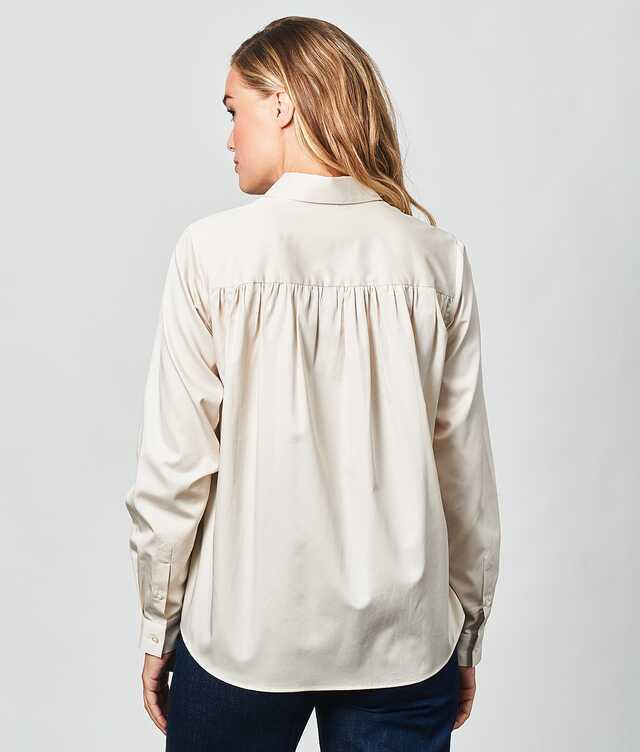 Gloria Cotton Poplin Off White The Shirt Factory