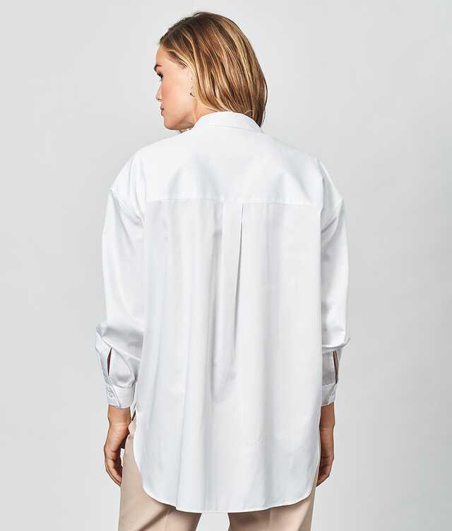 Elsa Cotton Poplin Vit The Shirt Factory