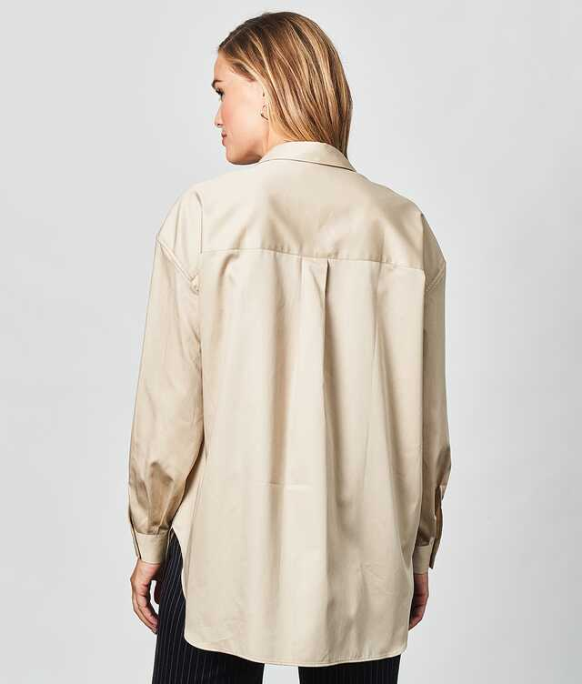 Elsa Cotton Poplin Beige The Shirt Factory