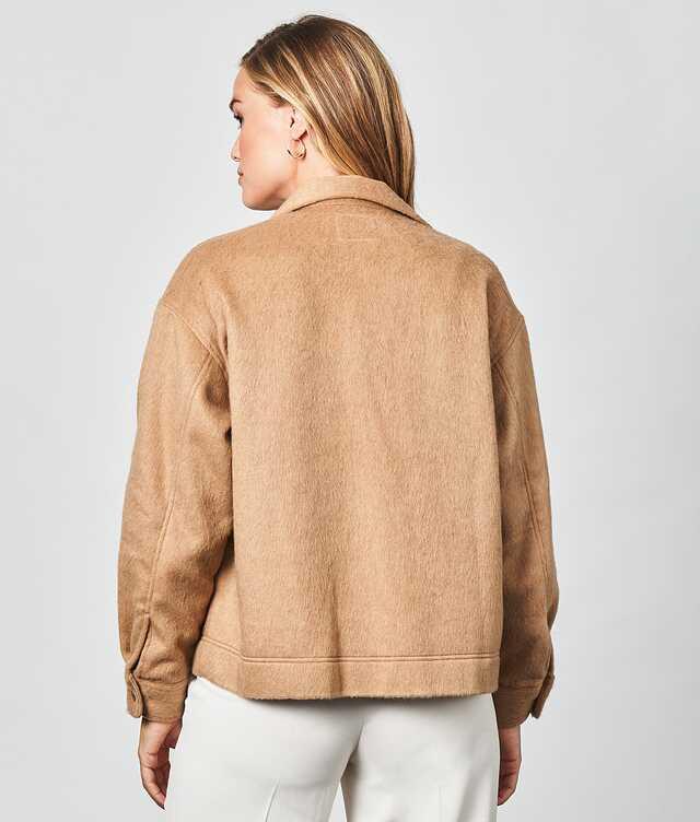 Ada Flannel Overshirt Sand The Shirt Factory