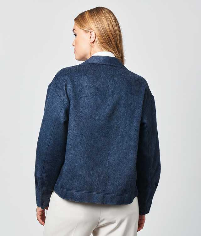 Ada Flanell Overshirt Blå The Shirt Factory
