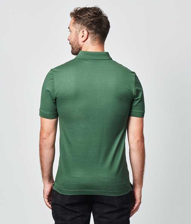 Merceriserad Piketröja Grön The Shirt Factory