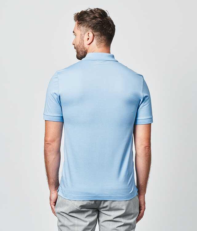 Merceriserad Piketröja Ljusblå The Shirt Factory
