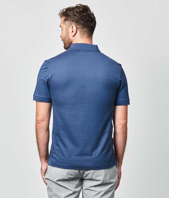 Merceriserad Piketröja Blå The Shirt Factory