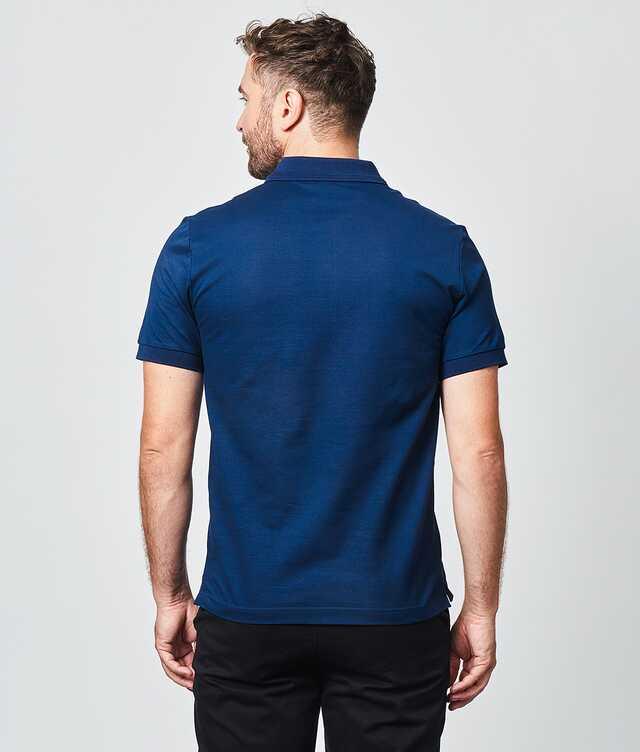 Merceriserad Piketröja Navy The Shirt Factory