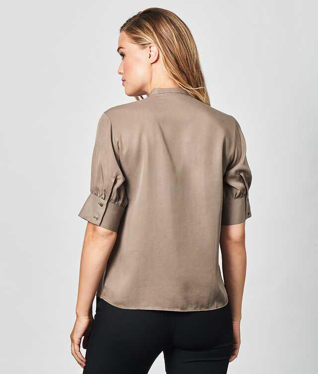 Sanna Soft Taupe The Shirt Factory